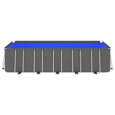 """vidaXL Swimming Pool with Steel Frame 212.6""""x106.3""""x48"""" Anthracite"""