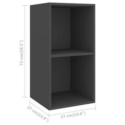 vidaXL Wall-mounted TV Cabinets 4 pcs Gray Chipboard