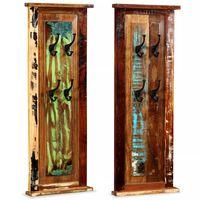 """vidaXL Coat Racks 2 pcs Solid Reclaimed Wood 15""""x39.4"""""""