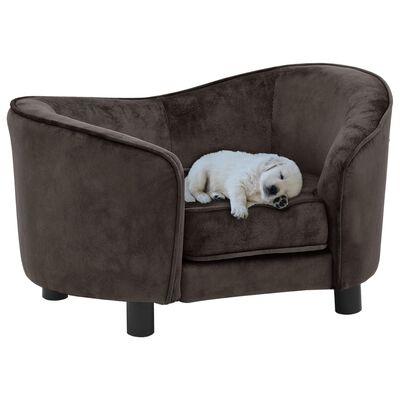 "vidaXL Dog Sofa Brown 27.2""x19.3""x15.7"" Plush"