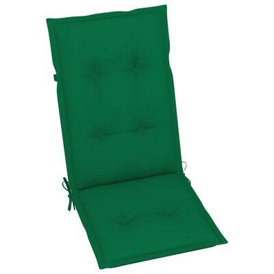 "vidaXL Garden Chair Cushions 4 pcs Green 47.2""x19.7""x2.8"""