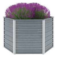 "vidaXL Garden Raised Bed Galvanized Steel 50.8""x50.8""x31.3"" Gray"