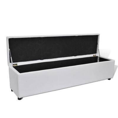 White Storage Bench Large Size