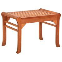"""vidaXL Garden Bench 25.2"""" Solid Eucalyptus Wood"""