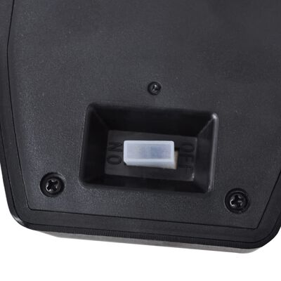 vidaXL Solar Wall Lamps 2 pcs with Motion Sensor Black