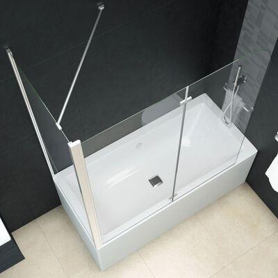 "vidaXL Bi-Folding Shower Enclosure ESG 47.2""x26.8""x51.2"""