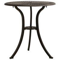 "vidaXL Garden Table Bronze 24.4""x24.4""x25.6"" Cast Aluminum"