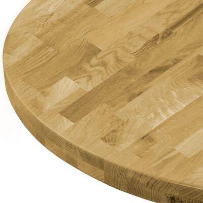 """vidaXL Table Top Solid Oak Wood Round 1.7"""" 19.7"""""""