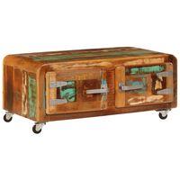 """vidaXL Coffee Table 33.5""""x21.7""""x15.7"""" Solid Reclaimed Wood"""