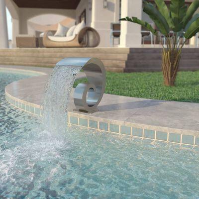 "vidaXL Pool Fountain Stainless Steel 19.7""x11.8""x20.9"" Silver"