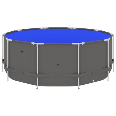 """vidaXL Swimming Pool with Steel Frame 144.5""""x48"""" Anthracite"""