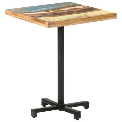 """vidaXL Bistro Table Square 23.6""""x23.6""""x29.5"""" Solid Reclaimed Wood"""