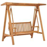 "vidaXL Swing Bench 66.9"" Solid Teak Wood"