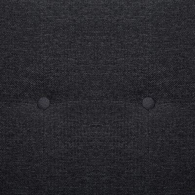 vidaXL Sofa Bed with Armrest Dark Gray Fabric